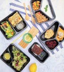 Zestaw dań z cateringu dietetycznego Codziennie FIT