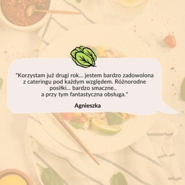 Opinia Agnieszki o cateringu dietetycznym Codziennie FIT
